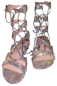 Vince Camuto Lace Up Gold/Silver Sandals