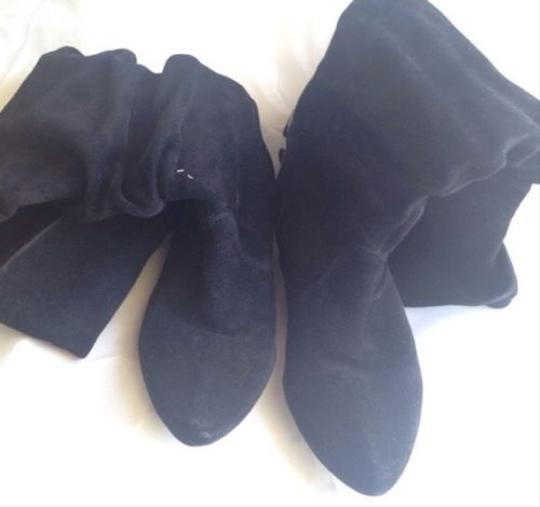 Jessica Simpson High Suede Black Boots