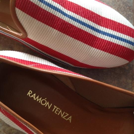 Ramon Tenza New Canvas red white blue Flats
