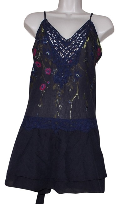 Free People Top Blue Combo