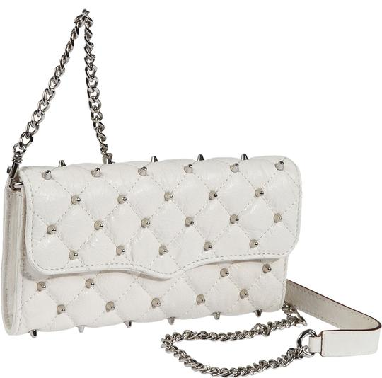 Preload https://item1.tradesy.com/images/rebecca-minkoff-diamond-quilt-and-stud-wallet-on-a-chain-white-cowhide-leather-clutch-3010915-0-0.jpg?width=440&height=440