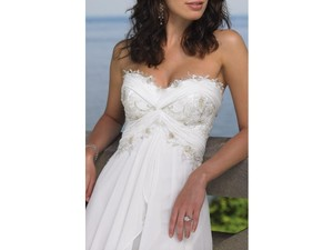 Mon Cheri White 18107 Destination Wedding Dress Size 18 (XL, Plus 0x)