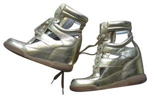 Marc Jacobs New Wedge Sneakers platinum gold Athletic