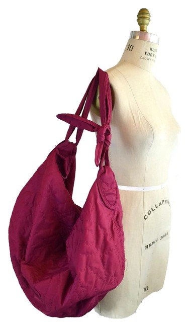 Item - XL Preppy Sling Pink Nylon Hobo Bag