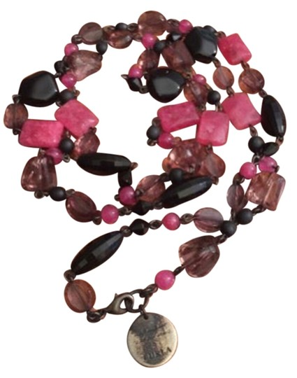 Preload https://item2.tradesy.com/images/furla-pink-and-black-resin-beaded-necklace-3011551-0-0.jpg?width=440&height=440