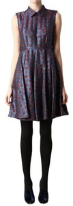 Kenzo Medallion Brocade Peter Pan Collar A-line Dress