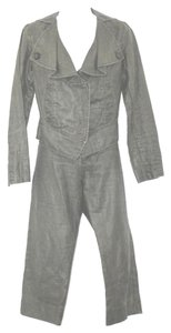 CAbi CABI 2-PC. LINEN GRAY PANT SUIT 4