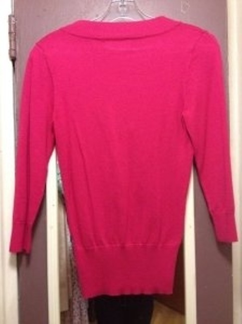 Other Knit V-neck 3/4 Sleeves Ribbing Sweater