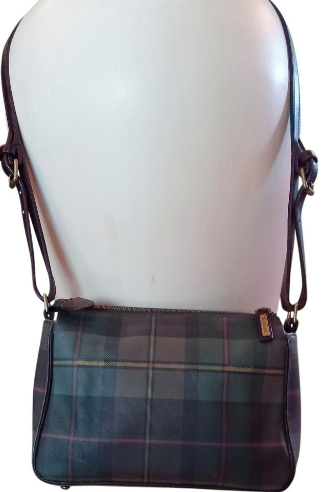 4b04ed0c8b80 Ralph Lauren Plaid Coated Canvas and Leather Shoulder Bag - Tradesy