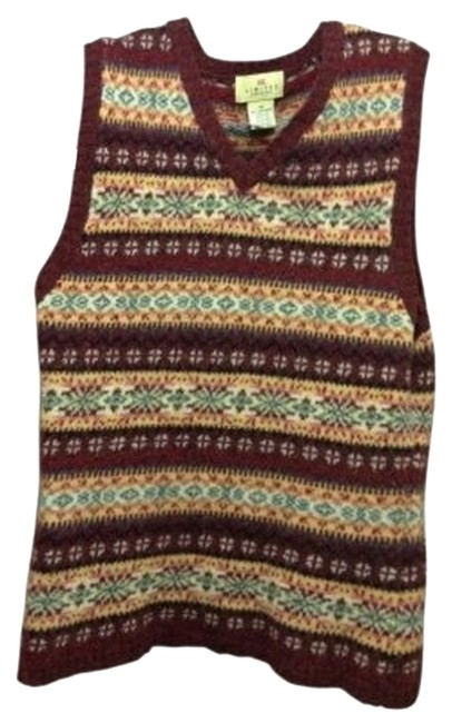 Preload https://img-static.tradesy.com/item/30123/the-limited-maroonmulti-vest-sweaterpullover-size-8-m-0-0-650-650.jpg