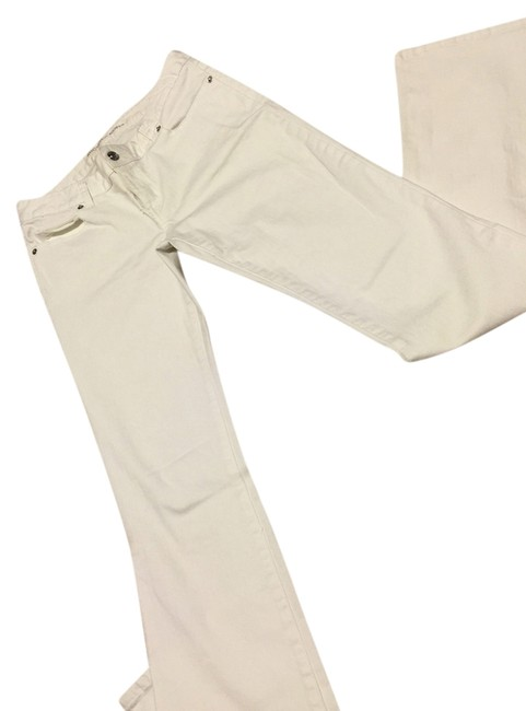 Item - White Coated Straight Leg Jeans Size 27 (4, S)