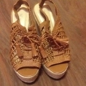 INC International Concepts Tan Wedges