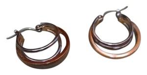 Silver and Gold Hoop Earrings Free Shipping