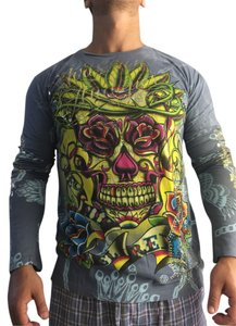 Christian Audigier T Shirt Grey