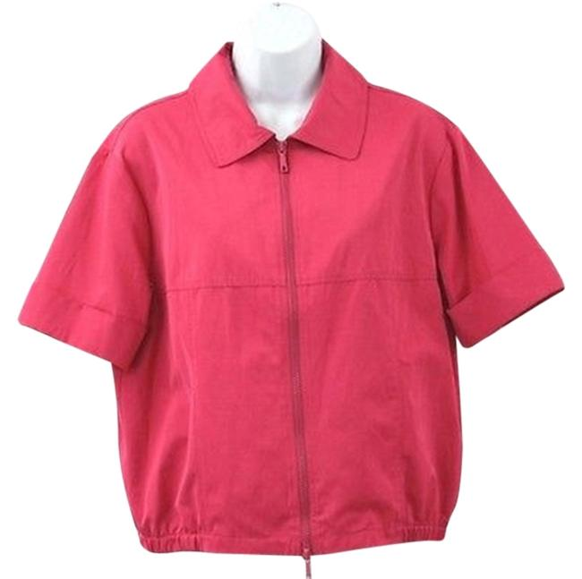 Preload https://item3.tradesy.com/images/lafayette-148-new-york-zip-front-blouse-size-10-m-3013717-0-0.jpg?width=400&height=650