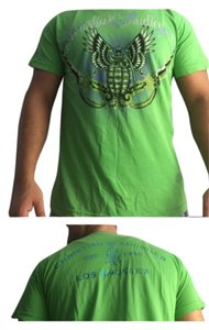 Christian Audigier T Shirt Green