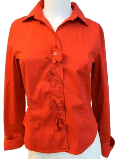 70%OFF Escada Sport Red Stretch Blouse 34 Button Down Shirt - 82% Off Retail