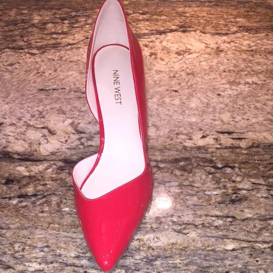 Nine West Red patent Leather Pumps