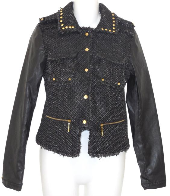 Preload https://item4.tradesy.com/images/pink-envelope-black-faux-leather-studded-motorcycle-jacket-size-6-s-3014788-0-0.jpg?width=400&height=650