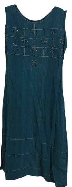 Preload https://item2.tradesy.com/images/a-line-teal-tunic-size-8-m-3015076-0-0.jpg?width=400&height=650