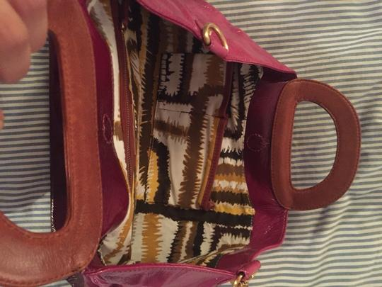 Elliot Lucca Satchel in Pink And Burgundy
