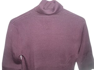 Ralph Lauren Ribbed Turtleneck Ribbed Knit Sweater