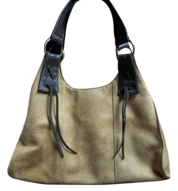 Item - Ana W Style Purse Accented W/Brown Leather Tan Suede Hobo Bag
