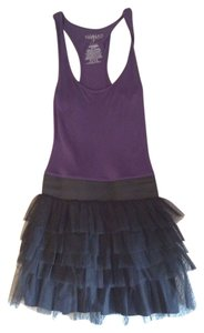 Miley Cyrus & Max Azria short dress Purple and Black on Tradesy