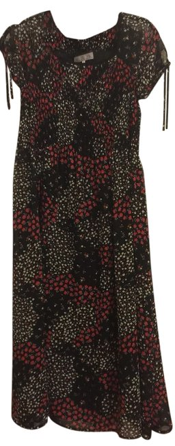 Item - Black/Red/White/Yellow Casual Maxi Dress Size 8 (M)