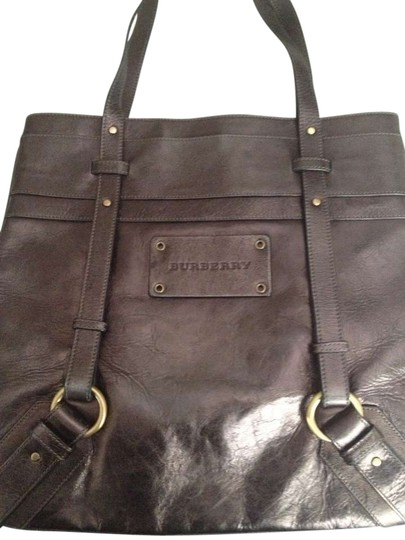 Burberry Monogram Leather Leather Shoulder Bag