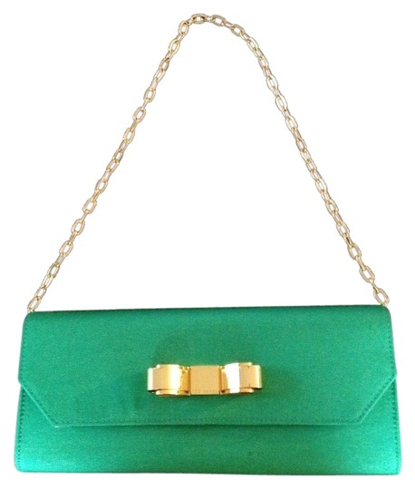 Preload https://item5.tradesy.com/images/ted-baker-rasia-bow-green-satin-clutch-3016984-0-0.jpg?width=440&height=440