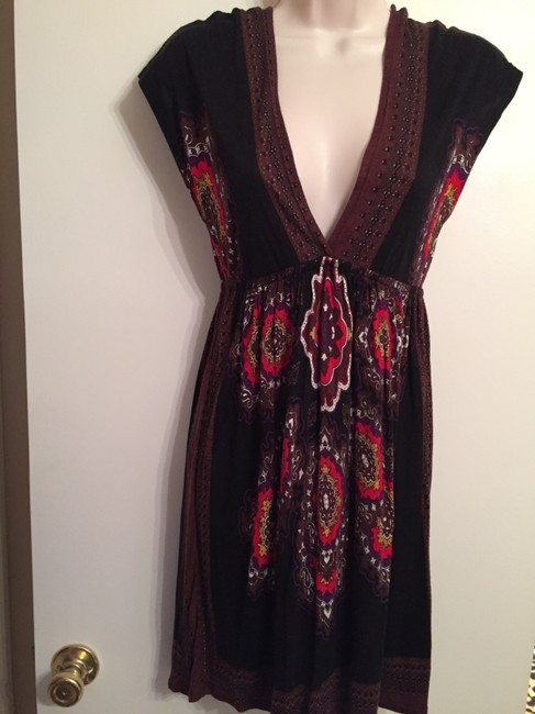 One Clothing short dress Multicolor black brown red on Tradesy