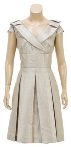 Tahari short dress Gold on Tradesy