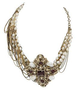 Chanel Chanel Runway Asymmetrical Pearl Collar Necklace