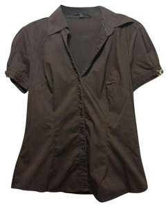 Express Button Down Shirt chocolate brown