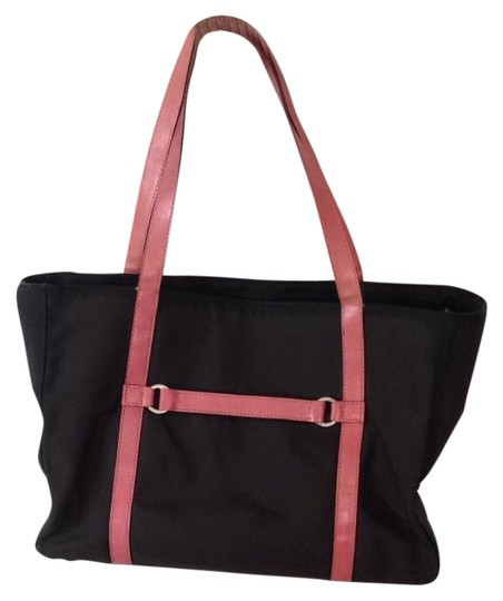Preload https://item2.tradesy.com/images/kate-spade-brown-and-pink-nylon-leather-tote-3018706-0-0.jpg?width=440&height=440