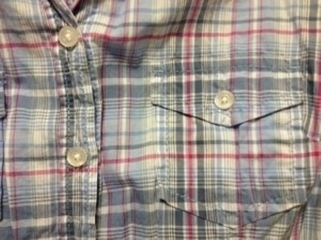 H&M Button Down Shirt blue and pink plaid