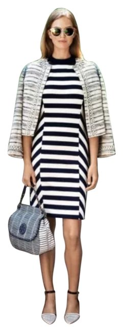 Tory Burch short dress Navy Stripe on Tradesy