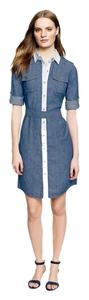 Tory Burch short dress Denim Blue on Tradesy