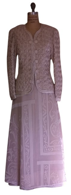 Preload https://img-static.tradesy.com/item/301932/saks-fifth-avenue-beige-night-out-dress-size-12-l-0-0-650-650.jpg