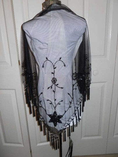 unknown Sheer beaded shawl