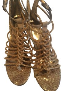 Carlos by Carlos Santana Gold/tan/brown Sandals