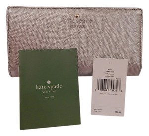 Kate Spade NWT KATE SPADE CEDAR STREET STACY BIFOLD WALLET SILVER LEATHER GIFT BOX - Free Shipping