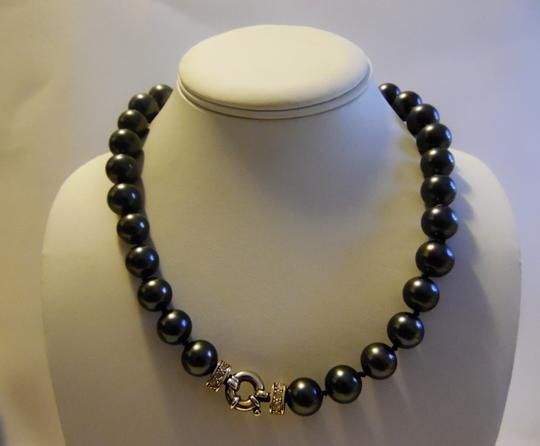 Pearlfection Pearlfection Faux Black Tahitian South Sea Pearl Necklace