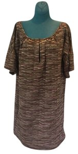 Patterson J. Kincaid short dress Brown, Red, Green, Tan on Tradesy