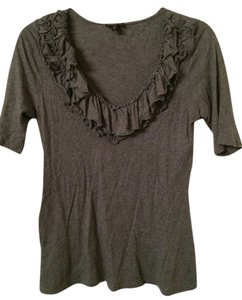 Express Scoop Neck Semi-fitted Top Gray