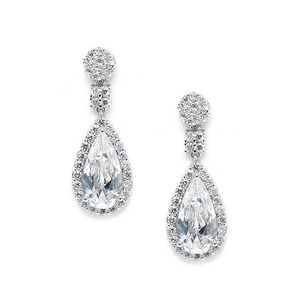 Mariell Victorian Teardrop Cubic Zirconia Wedding Or Prom Earrings 3612e