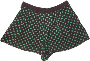 Topshop Polka Dot High Waist Mini/Short Shorts Black