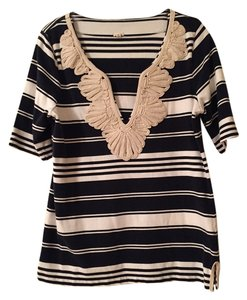 J.Crew Striped Embroidered Tunic