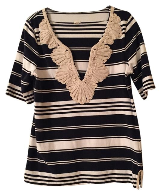 Preload https://item5.tradesy.com/images/jcrew-blue-and-white-striped-embroidered-tunic-size-8-m-3020674-0-0.jpg?width=400&height=650